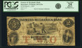 Obsoletes By State:Indiana, Rensselaer, IN - Farmers and Mechanics Bank $2 Mar. 1, 1854 IN-245 G24a, WVS 697-2. PCGS Very Fine 25 Apparent.. ...