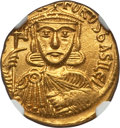 Ancients:Byzantine, Ancients: Nicephorus I (AD 802-811), with Stauracius (AD 803-811).AV solidus (4.37 gm)....