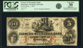 Obsoletes By State:Indiana, Rensselaer, IN - Farmers and Mechanics Bank $5 Mar. 1, 1854 IN-245 G26a, WVS 697-3. PCGS Very Fine 30 Apparent.. ...