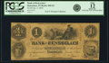 Obsoletes By State:Indiana, Rensselaer, IN - Bank of Rensselaer $1 Jan. 2, 1854 IN-560 G2, WVS 696-1. PCGS Fine 12 Apparent.. ...