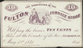Obsoletes By State:Ohio, Jackson, OH- Fulton Furnace 10¢ May 1, 1871 Remainder. ...