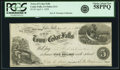 Obsoletes By State:Iowa, Cedar Falls, IA - Town of Cedar Falls $5 Post Note Apr. 1, 1858Oakes 22-2. PCGS Choice About New 58PPQ.. ...