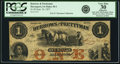 Obsoletes By State:Iowa, Davenport, IA - Burrows and Prettyman $1 Sep. 26, 1857 Oakes 30-1.PCGS Very Fine 30 Apparent.. ...