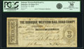 Obsoletes By State:Iowa, Dubuque, IA - Dubuque Western Rail Road Company $3 Jan. 15, 1858 Oakes 53-4. PCGS Very Fine 30 Apparent.. ...