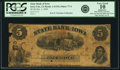 Obsoletes By State:Iowa, Iowa City, IA - State Bank of Iowa $5 Oct. 1, 1859 IA-1 G134, Oakes 77-4. PCGS Very Good 10 Apparent.. ...