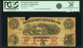 Obsoletes By State:Iowa, Le Claire, IA - Davenport, Rogers & Co. $5 Jan. 5, 1863 Oakes88-4. PCGS Very Fine 20 Apparent.. ...