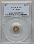California Fractional Gold , 1871 50C Liberty Round 50 Cents, BG-1011, R.2, MS62 PCGS. PCGSPopulation (87/183). NGC Census: (27/62). ...