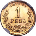 Mexico, Mexico: Republic gold Peso Mule 1898 Go-R MS65 NGC,...