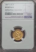 1847-C $2 1/2 -- Improperly Cleaned -- NGC Details. XF. NGC Census: (14/223). PCGS Population (31/192). Mintage: 23,226...