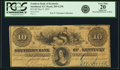Obsoletes By State:Kentucky, Smithland, KY - Southern Bank of Kentucky, Bank in Smithfield $10 May 9, 1855 KY-285 G298 SENC, Hughes 747var. PCGS Very Fine ...