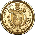 Switzerland:Beromuenster, Switzerland: Beromuenster. Abbey gold Medallic Restrike 1/4 TalerND (1720) UNC,...