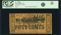 Obsoletes By State:Louisiana, New Orleans, LA - I. L. Wilbur 50 Cents Mar. 15, 1862. PCGS Fine 15.. ...