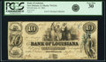 Obsoletes By State:Louisiana, New Orleans, LA - Bank of Louisiana $10 Forced Issue June 14, 1862 LA-75 G14c. PCGS Very Fine 30.. ...