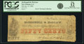 Obsoletes By State:Louisiana, New Orleans, LA - McDonnell & McGraw 50 Cents Jan. 15, 1862. PCGS Fine 12 Apparent.. ...