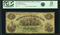 Obsoletes By State:Louisiana, New Orleans, LA - Mechanics & Traders Bank $2 Certificate of Deposit 18__. Remainder. PCGS Fine 15 Apparent.. ...
