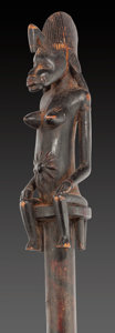 Tribal Art, SENUFO, Ivory Coast . Staff. ...