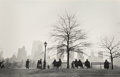 Photographs:Gelatin Silver, Ruth Orkin (American, 1921-1985). Central Park South silhouette, NYC, 1955. Gelatin silver, printed by Mary Engel under ...