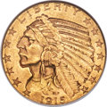 Indian Half Eagles, 1915-S $5 MS62 NGC....