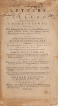 Books:World History, Joseph Banks. Letters on Iceland. London: 1780. Second edition....