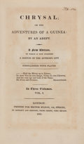 Books:Literature Pre-1900, [Charles Johnstone]. Chrysal; or The Adventures of a Guinea: Byan Adept. London: 1821. New edition.... (Total: 3 Items)