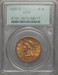 Liberty Eagles: , 1899-O $10 AU58 PCGS. PCGS Population (52/149). NGC Census: (94/117). Mintage: 37,047. CDN Wsl. Price for problem free NGC/...