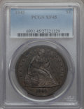 Seated Dollars: , 1845 $1 XF45 PCGS. PCGS Population (60/141). NGC Census: (32/121). Mintage: 24,500. . From The Ohio Valley Collection....