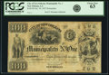 Obsoletes By State:Louisiana, New Orleans, LA - City of New Orleans Municipality No. One $100 6% Interest Post Note Act of October 30, 1837. Remainder. PCGS...