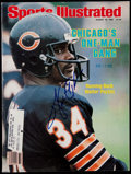 Football Collectibles:Publications, Walter Payton Signed Sports Illustrated Magazine....