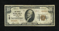 National Bank Notes:Virginia, Leesburg, VA - $10 1929 Ty. 2 The Peoples NB Ch. # 3917. Only threeType 2s in the census for this Loudon County bank an...