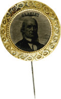 Political:Ferrotypes / Photo Badges (pre-1896), Rare Horace Greeley Ferrotype Stick Pin. Greeley ferrotypes aretough in any form, but this is a particularly nice example. ...