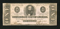 Confederate Notes:1863 Issues, T62 $1 1863. Healthy edges save for one minor split are found onthis $1 that saw very little circulation. Extremely Fine....