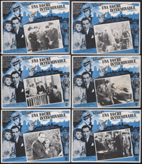 """All Through the Night (Warner Brothers, 1942). Mexican Lobby Cards (6) (12.5"""" X 16.5""""). Action.... (Total: 6 I..."""