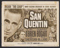 "Movie Posters:Drama, San Quentin (Warner Brothers, R-1950). Title Lobby Card (11"" X 14""). Crime Drama. Starring Pat O'Brien, Humphrey Bogart, Ann..."