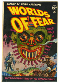 Worlds of Fear #3 Mile High pedigree (Fawcett, 1952) Condition: VG. Sheldon Moldoff cover. George Evans art. Overstreet...