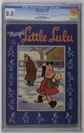 "Golden Age (1938-1955):Cartoon Character, Four Color #139 Davis Crippen (""D"" Copy) pedigree (Dell, 1947) CGCVF 8.0 Off-white to white pages. Marge's Little Lulu. Ove..."