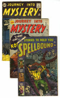 Golden Age (1938-1955):Horror, Miscellaneous Horror Group (Various, 1954-62) Condition: AverageVG. Contains Journey into Mystery #69 and 80 (anti-comm... (Total:4 Comic Books)