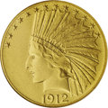 Proof Indian Eagles: , 1912 $10 PR67 PCGS. An exemplary specimen of this proof coinage.From the Indian Head eagle series introduction in 1907, th...