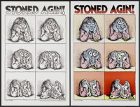 "Robert Crumb Poster Lot (Apex Novelties, 1971). Poster (15"" X 22""). ""Stoned Agin!"" A black and white..."