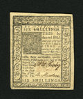 Colonial Notes:Delaware, Delaware January 1, 1776 6s Gem New. Another very broadly margined example from this popular Delaware issue....