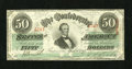 """Confederate Notes:1863 Issues, T57 $50 1863. Serial number 4747 is found on this PF-8 Cr. 414 $50.Very Fine.. From The William A. """"Bill"""" Bond Collec..."""
