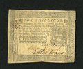 Colonial Notes:Pennsylvania, Pennsylvania October 25, 1775 2s Extremely Fine. This is a verypleasing example for the grade that has three bold signature...
