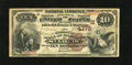 National Bank Notes:Missouri, Saint Louis, MO - $10 1882 Brown Back Fr. 484 The NB of CommerceCh. # (M)4178. The paper is pleasingly original. The ma...