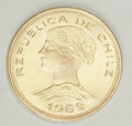 Chile: , Chile: Republic gold 100 Pesos 1962, KM175, choice brilliantUNC....