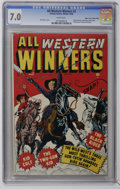 Golden Age (1938-1955):Western, All Western Winners #2 Mile High pedigree (Marvel, 1948) CGC FN/VF 7.0 White pages. Origin and first appearance of the Black...