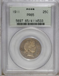 Proof Barber Quarters: , 1911 25C PR65 PCGS. PCGS Population (29/58). NGC Census: (41/64). Mintage: 543. Numismedia Wsl. Price: $1,450. (#5697)...