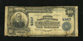 Wadesboro, NC - $10 1902 Plain Back Fr. 631 The First NB Ch. # 4947 A Very Good note from an elusive bank. Some mar