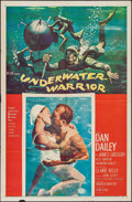 "Movie Posters:Adventure, Underwater Warrior (MGM, 1958). One Sheet (27"" X 41""). Adventure....."