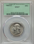 Washington Quarters, 1983-D 25C MS67 PCGS....