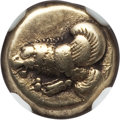 Ancients:Greek, Ancients: LESBOS. Mytilene. Ca. 412-378 BC. EL sixth stater orhecte (2.54 gm)....