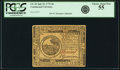 Colonial Notes:Continental Congress Issues, Continental Currency July 22, 1776 $6 Fr. CC-43. PCGS Choice AboutNew 55.. ...